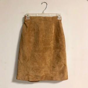 Vintage Express Genuine Suede Skirt